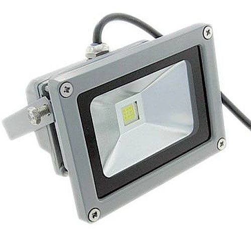 10 Watt White LED Weatherproof Outdoor Floodlight Sealed