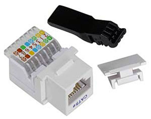 10 lot white cat5e ethernet rj 45 tooless keystone 8 rj45 biscuit jack wiring 10baset rj45 wall jack wiring #3